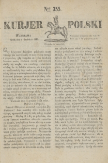 Kurjer Polski. 1830, Nro 355 (8 grudnia)