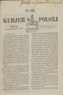 Kurjer Polski. 1830, Nro 356 (9 grudnia)