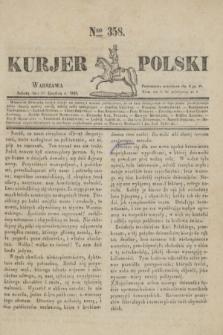 Kurjer Polski. 1830, Nro 358 (8 grudnia)