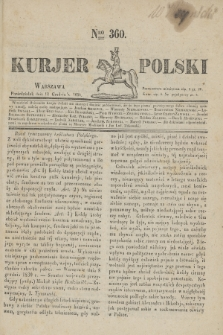 Kurjer Polski. 1830, Nro 360 (13 grudnia)