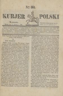 Kurjer Polski. 1830, Nro 361 (14 grudnia)