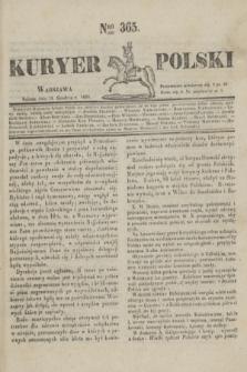 Kuryer Polski. 1830, Nro 365 (18 grudnia)