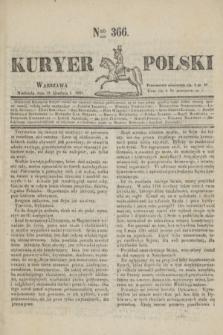 Kuryer Polski. 1830, Nro 366 (19 grudnia)