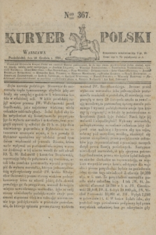 Kuryer Polski. 1830, Nro 367 (20 grudnia)