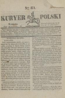Kuryer Polski. 1830, Nro 371 (24 grudnia)