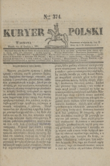 Kuryer Polski. 1830, Nro 374 (28 grudnia)