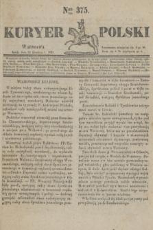 Kuryer Polski. 1830, Nro 375 (29 grudnia)