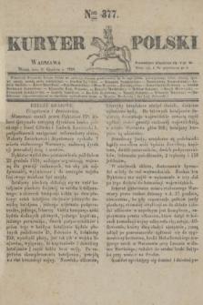 Kuryer Polski. 1830, Nro 377 (31 grudnia)
