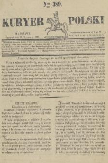 Kuryer Polski. 1831, Nro 389 (13 stycznia)