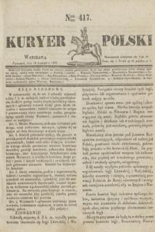Kuryer Polski. 1831, Nro 417 (10 lutego)