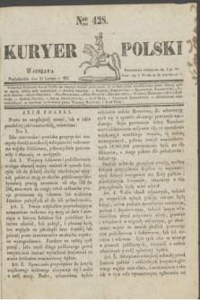 Kuryer Polski. 1831, Nro 428 (21 lutego)