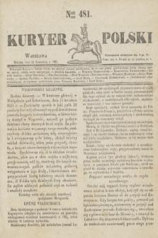 Kuryer Polski. 1831, Nro 481 (16 kwietnia)