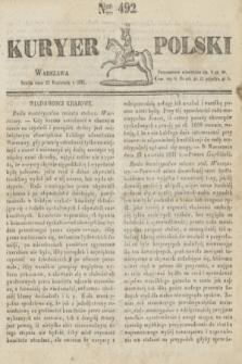 Kuryer Polski. 1831, Nro 492 (27 kwietnia)