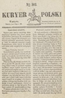 Kuryer Polski. 1831, Nro 503 (8 maja)