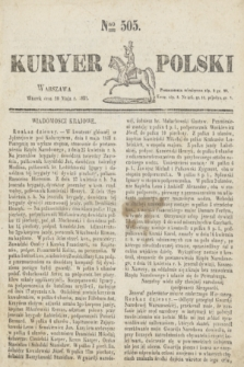 Kuryer Polski. 1831, Nro 505 (10 maja)