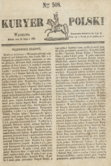 Kuryer Polski. 1831, Nro 508 (14 maja)