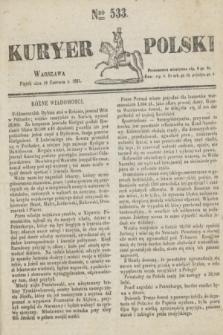 Kuryer Polski. 1831, Nro 533 (10 czerwca)