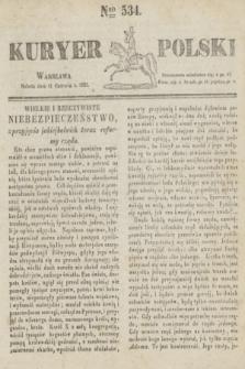Kuryer Polski. 1831, Nro 534 (11 czerwca)