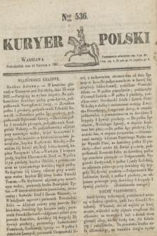 Kuryer Polski. 1831, Nro 536 (13 czerwca)
