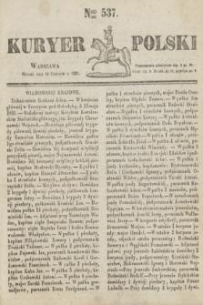 Kuryer Polski. 1831, Nro 537 (14 czerwca)