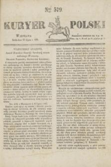 Kuryer Polski. 1831, Nro 579 (27 lipca)