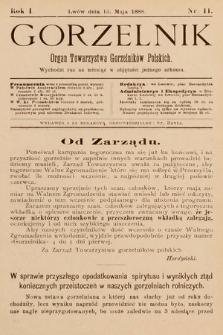 Gorzelnik : organ Towarzystwa Gorzelników Polskich we Lwowie. R. 1, 1888, nr11