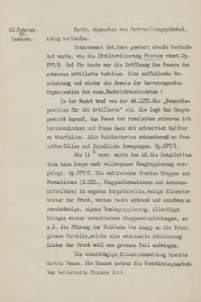 """K. u. k. 1. Korpskommando. Tagebuch Nr 1-3 über Ereignisse im Felde vom 23. Juli 1914 bis 23. Mai 1915"" T. 3, 15 Februar – 23 Mai 1915 r."