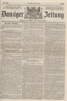 Danziger Zeitung : Organ für West- und Ostpreußen. 1860, No. 587 (26 April)