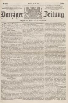 Danziger Zeitung : Organ für West- und Ostpreußen. 1860, No. 661 (25 Juli)