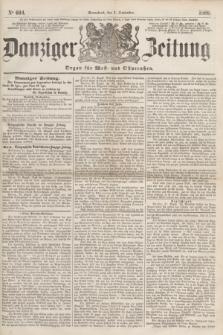 Danziger Zeitung : Organ für West- und Ostpreußen. 1860, No. 694 (1 September) + dod.