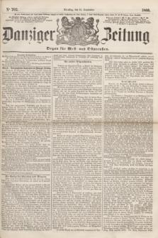 Danziger Zeitung : Organ für West- und Ostpreußen. 1860, No. 702 (11 September)