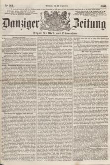 Danziger Zeitung : Organ für West- und Ostpreußen. 1860, No. 703 (12 September)