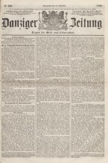 Danziger Zeitung : Organ für West- und Ostpreußen. 1860, No. 706 (15 September) + dod.
