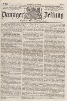 Danziger Zeitung : Organ für West- und Ostpreußen. 1860, No. 710 (20 September)