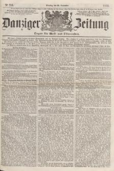 Danziger Zeitung : Organ für West- und Ostpreußen. 1860, No. 714 (25 September)