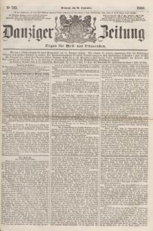 Danziger Zeitung : Organ für West- und Ostpreußen. 1860, No. 715 (26 September) + dod.