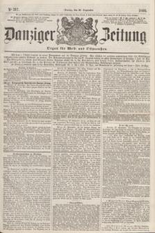 Danziger Zeitung : Organ für West- und Ostpreußen. 1860, No. 717 (28 September) + dod.