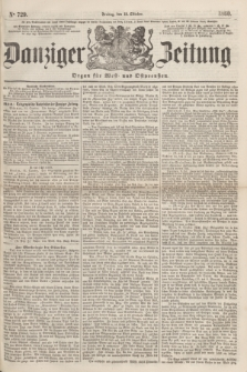 Danziger Zeitung : Organ für West- und Ostpreußen. 1860, No. 729 (12 Oktober)