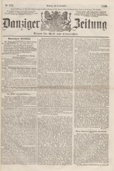 Danziger Zeitung : Organ für West- und Ostpreußen. 1860, No. 773 (3 Dezember)