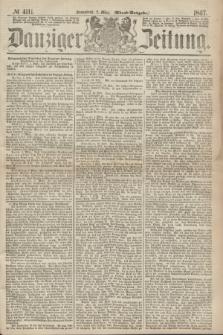 Danziger Zeitung. 1867, № 4111 (2 März) - (Abend=Ausgabe.) + dod.