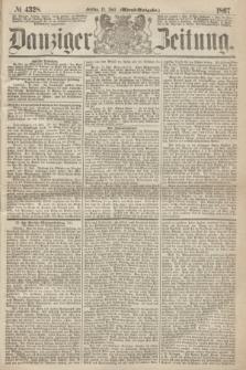 Danziger Zeitung. 1867, № 4328 (12 Juli) - (Abend=Ausgabe.)