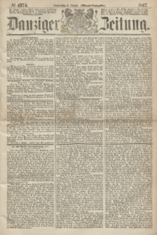 Danziger Zeitung. 1867, № 4374 (8 August) - (Abend=Ausgabe.)