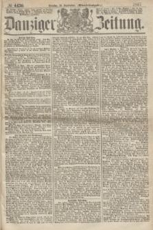 Danziger Zeitung. 1867, № 4430 (10 September) - (Abend=Ausgabe.) + dod.