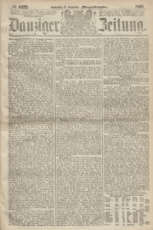 Danziger Zeitung. 1867, № 4433 (12 September) - (Morgen=Ausgabe.)