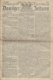 Danziger Zeitung. 1867, № 4438 (14 September) - (Abend=Ausgabe.) + dod.