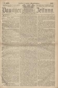 Danziger Zeitung. 1867, № 4458 (26 September) - (Abend=Ausgabe.)