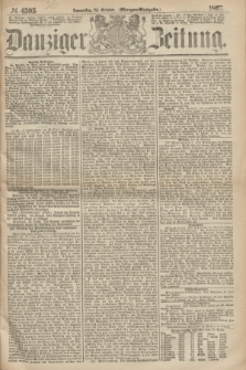 Danziger Zeitung. 1867, № 4505 (24 October) - (Morgen=Ausgabe.)