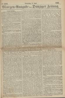 Morgen=Ausgabe der Danziger Zeitung. 1869, № 5506 (17 Juni)