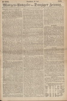 Morgen=Ausgabe der Danziger Zeitung. 1869, № 5582 (31 Juli)