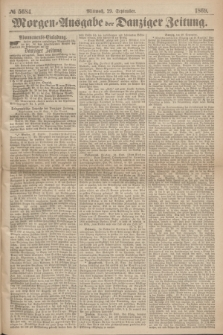 Morgen=Ausgabe der Danziger Zeitung. 1869, № 5684 (29 September)